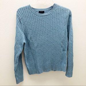 3/$20 Sweater Ladies Blue Large. Izod